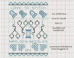 Creative Workshops from Hetti: # SAL Delft Blue LOVE TO STITCH 2013