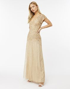 Drenched in decadent floral beading and sparkling sequins, our limited-edition Stella maxi dress is a masterpiece of embellishments. This show-stopping desig...