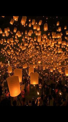 at 12:00am each night everyone will let off a lantern and write on it what they are thankful for that day
