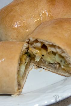 "10-15-12   Runza!!!!  Had my version of this for dinner tonight! I use ground turkey and cabbage and season it up with salt, pepper, garlic, onions and a pinch of cayenne (for a slight kick) for the filling.  Bake it inside an easy bread recipe ""hot-pocket"" style for individual portions.  Hubs makes a dip for it with mayo, mustard and garlic.  YUM!!!"