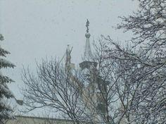 #Klasztor dominikanów przy ul. Freta. #Warszawa, #zima. #dominikanie