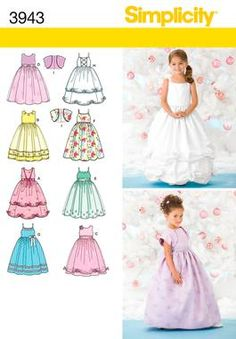 Child Special Occasion Dress Sewing Pattern 3943 Simplicity