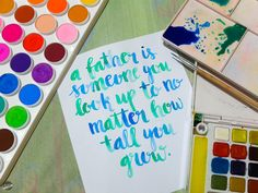 Happy Father's Day to all the dads out there! Watercolor Lettering, Happy Father, Dads, Phone Cases, Fathers, Phone Case