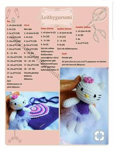 Discover thousands of images about Amigurumi Crochet Patterns Amigurumi, Amigurumi Doll, Crochet Dolls, Crochet Baby, Free Crochet, Hello Kitty Crochet, Crochet Slippers, Stuffed Toys Patterns, Crochet Animals