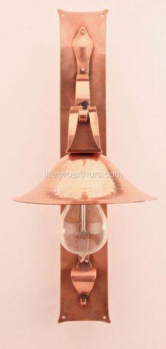 Birmingham Guild of Handicraft BGH Copper Wall Light No. 27 Arts and Crafts    eBay
