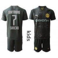 Borussia Dortmund Jadon Sancho #7 Replica Away Baby Kit 2019-20(+ Short pants) Short Sleeve