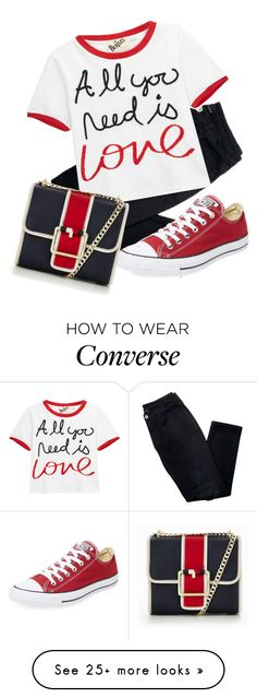 """""""All You Need Is Love"""" by foldym-sd on Polyvore featuring Avon, Alice + Olivia, Converse and Tommy Hilfiger"""