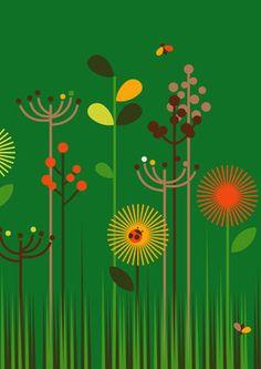 Green Meadow Fine Art Print by Dicky Bird http://www.magnoliabox.com/artist/31569/Dicky_Bird