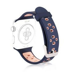 38mm Replacement Strap Wristband Apple Watch Sport Silicone Band Navy+Pink New   Jewelry & Watches, Watches, Parts & Accessories, Wristwatch Bands   eBay!