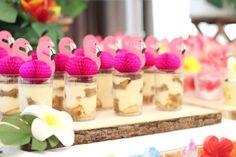 Flamingo Dessert Cups from a Tropical Hawaiian Flamingo Party via Kara's Party Ideas | KarasPartyIdeas.com (19)