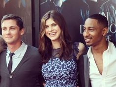 Logan Lerman♥, Alex Dadario (sorry dont know how to spell :/), and Brandon T. Jackson at the LA fan screening of PJO SoM!