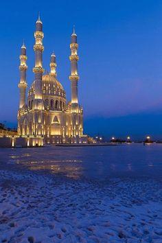 The Heydar Mosque, in Baku, Azerbaijan.