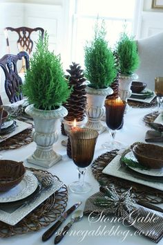 HOMESPUN CHRISTMAS LINKY PARTY ~ RECIPES AND TABLESCAPES - StoneGable
