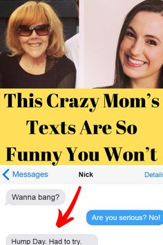 This mom and daughter have a very close relationship. A key part of the ongoing communication that keeps them close is texting. Lots and lots of texting. Cute Relationship Goals, Relationship Memes, Cute Relationships, Mom Texts, Funny Texts, Hear Style, Weird Text, Crazy Mom, Weird Stories