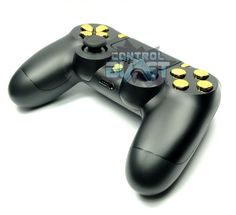 Chrome Gold Buttons Custom Dualshock 4 Controller from ControlBlast.co.uk