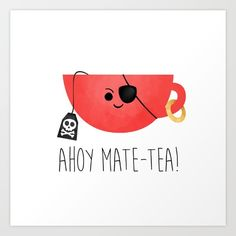 New favorite tea pun Punny Puns, Funny Food Puns, Mate Tee, Tea Puns, Cuppa Tea, Cute Cards, Funny Cards, My Cup Of Tea, Cute Drawings