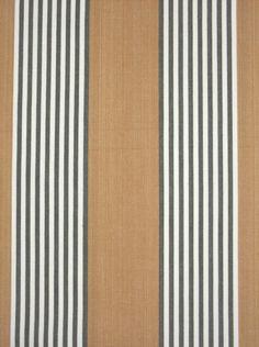 Sivas Stripe Fabric A 100% cotton rusty orange stripe fabric alternated with charcoal and cream narrow stripes.