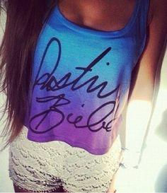 It's a Justin Bieber shirt! #itsabelieberthing