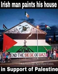 Irish man paints his house in support of Palestine *RESPECT*