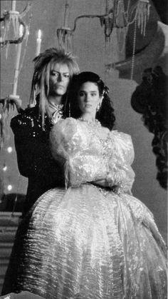 Labyrinth- David Bowie and Jennifer Connelly David Bowie Labyrinth, Labyrinth 1986, Labyrinth Movie, Goblin King, Jennifer Connelly, Fandoms, Modern Love, Film Music Books, Movie Photo
