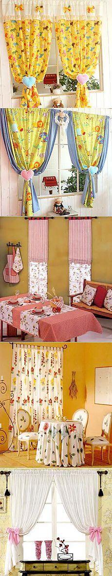 Простые шторы: веселый ситец для кухни - Учимся Делать Все Сами