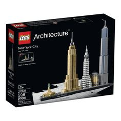 LEGO Architecture New York City - with the Flatiron Building, Chrysler Building, Empire State Building, One World Trade Center and the Statue of Liberty