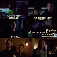 "#Arrow 3x07 ""Draw Back Your Bow"" - Oliver, Roy and Diggle the team feels"