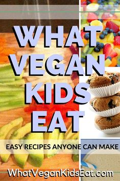 What Vegan Kids Eat – easy meals that anyone can make. Heathly and some of them… What Vegan Kids Eat – easy meals that anyone can make. Heathly and some of them her 9 year old son makes. PIN NOW check it out later! Vegan Lunches, Vegan Foods, Vegan Dishes, Vegan Vegetarian, Kids Vegan Meals, Vegetarian Kids Recipes, Baby Food Recipes, Whole Food Recipes, Kid Recipes