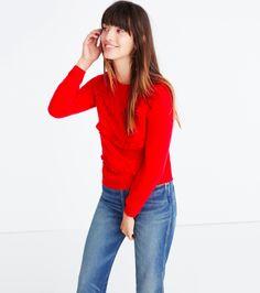 Ruffled Red Sweater