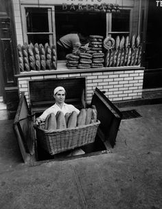 Zitos Bakery, Bleecker Street, New York, 1947  by Berenice Abbot
