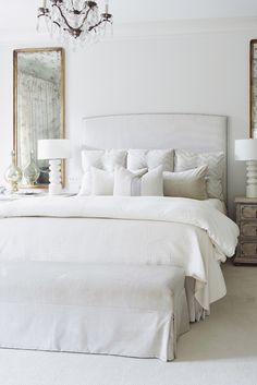 Home Decor Scandinavian chic white bedroom.Home Decor Scandinavian chic white bedroom. Master Bedroom Plans, Master Bedroom Design, Dream Bedroom, Home Bedroom, Bedroom Ideas, Bedroom Themes, Master Bedrooms, Bedroom Designs, Bedroom Inspiration