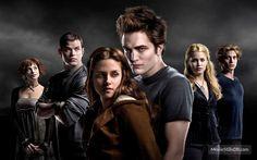 Twilight - Promo shot of Robert Pattinson, Kristen Stewart, Jackson Rathbone, Kellan Lutz, Ashley Greene & Elizabeth Reaser
