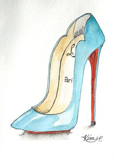 Original Fashion illustration:   NEW  louboutin by KIMPETERSONART