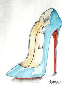 Original Fashion illustration: NEW louboutin by KIMPETERSONART