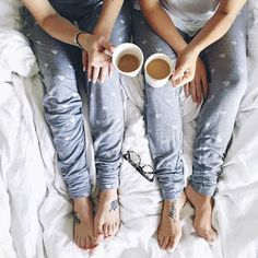 Sunday mornings are made for friends, coffee, and these super cute and comfy PJs!!!