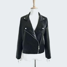 Slim Thin Leather Jacket