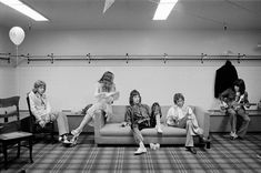 Rolling Stones backstage in '79.  Mick Taylor and wife Rose, Jagger, Watts and Wyman.