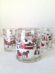 Vintage Sleigh Mug Christmas Holiday Scene by TheLittleThingsVin, $19.00