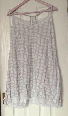 F/&F BURGUNDY STRETCHY JERSEY LOOSE FIT NIGHT DRESS WEAR NIGHTIE CHEMISE BNWOT