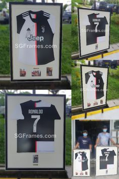 Here our recent Jersey Framing Project. Our customer wish to frame his two Jersey which is autographed by a famous Football player. So, we suggest him to frame it with Metal Name Plate – Gold Color with the player name on it. Also, we recommend him to choose the right frame that suits his wall color.   #SGFrames #StaySafe #GoDigital #SGFramesChinaTown #SGFramesToaPayoh #JerseyFraming #SportsFraming #Memorabilia #SingaporeFrameMaker #FootBallJersey #AutographedJersey Industrial Park, Frame It, Football Jerseys, Chinese Art, Singapore, Abstract Art, Plate, Suits, Mirror