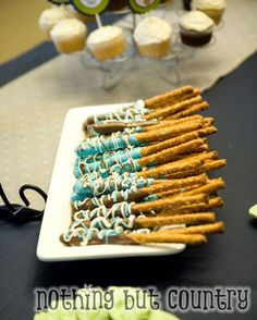 yum! - I know this is for a boy baby shower, but there are some cool ideas for ANY party - with a little imagination. ;)
