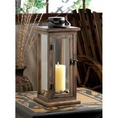 Perfect Lodge Wooden Lantern via AC TREASURES. Click on the image to see more!