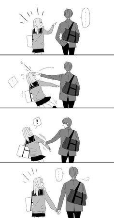 Couple Anime Manga, Anime Couples Drawings, Anime Love Couple, Anime Couples Manga, Romantic Anime Couples, Anime Couples Cuddling, Anime Girls, Anime Couples Sleeping, Anime Couples Hugging