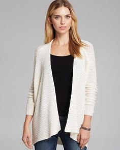 [other view in white] -- Velvet by Graham & Spencer Cardigan - Vedda Marled | Bloomingdale's