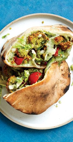 Fresh Herb Falafel - A coarse texture is absolutely key; if the chickpeas are too finely chopped, the falafel will be dense. Vegan Dinner Recipes, Vegan Dinners, Vegetarian Recipes, Cooking Recipes, Healthy Recipes, Chickpea Recipes, Top Recipes, Paninis, Quesadillas