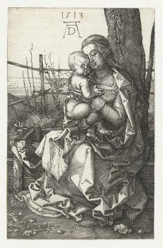 Maria met kind bij een boom, Albrecht D�rer, 1513