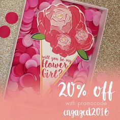 Congratulations you're engaged! Take advantage of our 20% off sale on your Wedding Stationery!