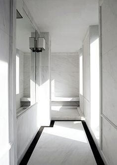 Corridor inside the 5th Avenue apartment by French architect Joseph Dirand. Classical interior made abstract.