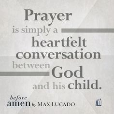 A short excerpt from Before Amen by Max Lucado. Click through for more information about the book.