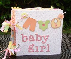 Mini Scrapbook Album, Mini Album, Baby Girl Mini Album, Srapbook album, Chipboard Mini Album